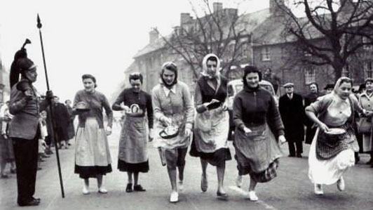 Pancake Day Races in Olney