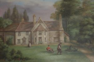 Cowpers Childhood home painting