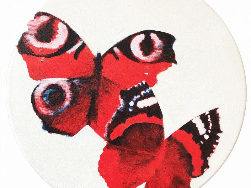 Jane Oldfield Red Butterflies (2)
